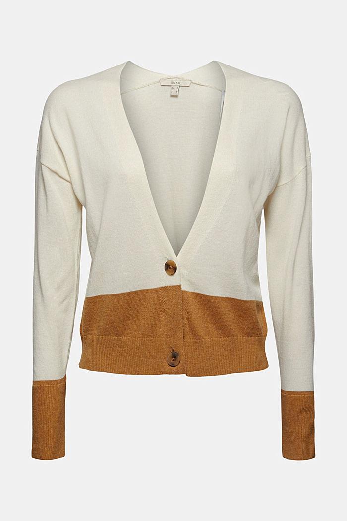 Cardigan aus 100% Pima-Baumwolle, OFF WHITE, detail image number 5