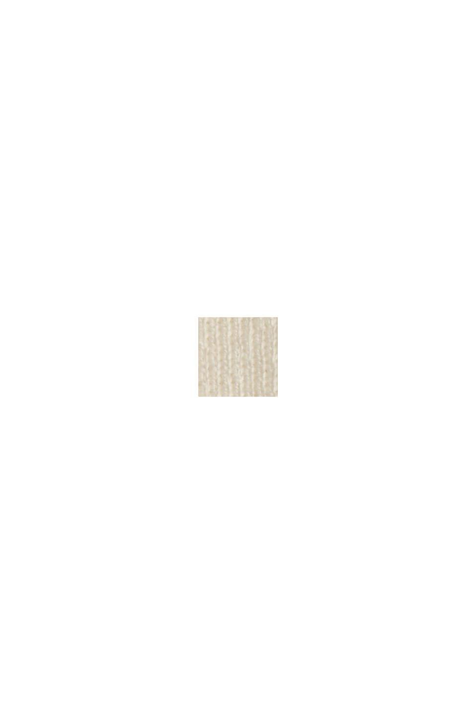 Cardigan in 100% cotone Pima, OFF WHITE, swatch