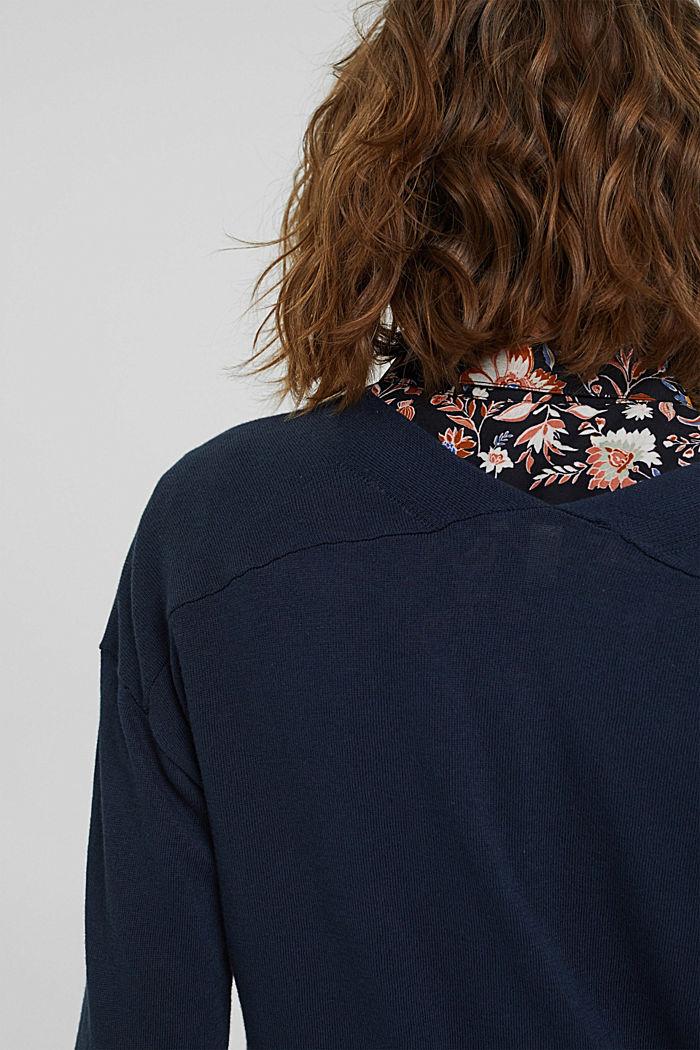 Vest van 100% pima katoen, NAVY, detail image number 2