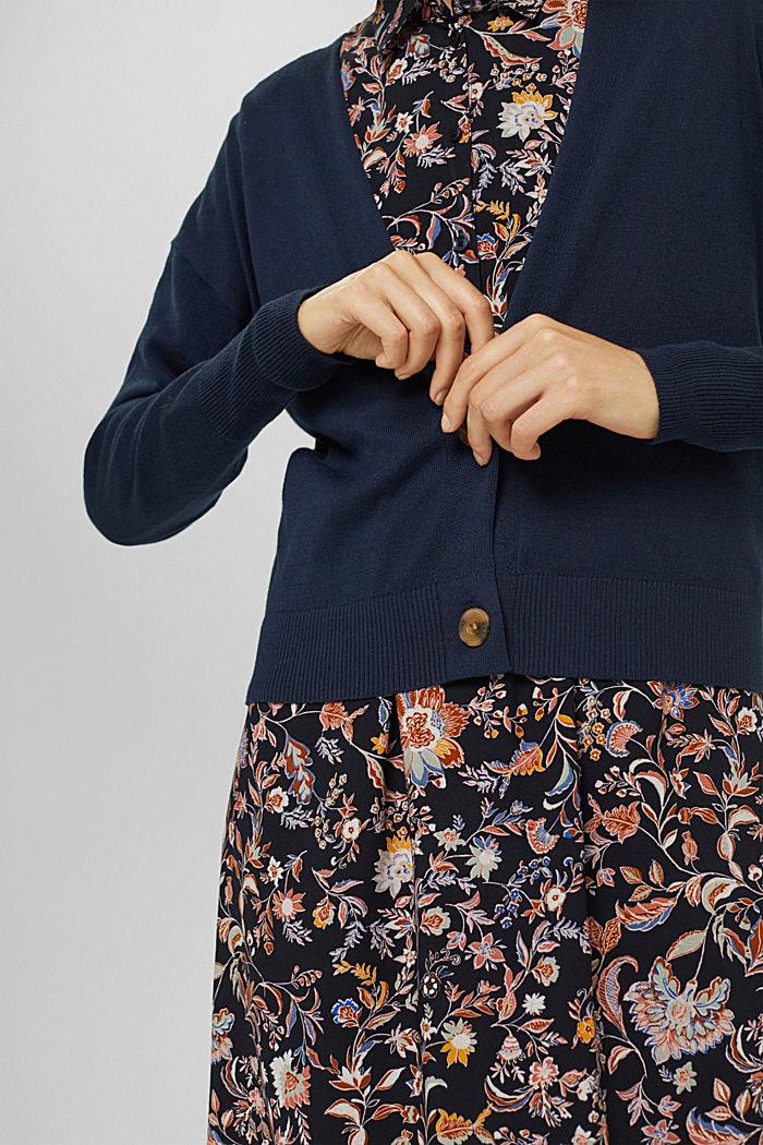 Vest van 100% pima katoen, NAVY, detail image number 5