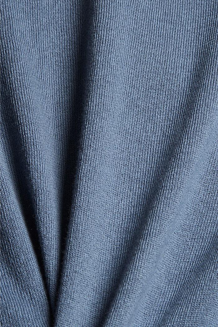 Cardigan aus 100% Pima-Baumwolle, GREY BLUE, detail image number 4