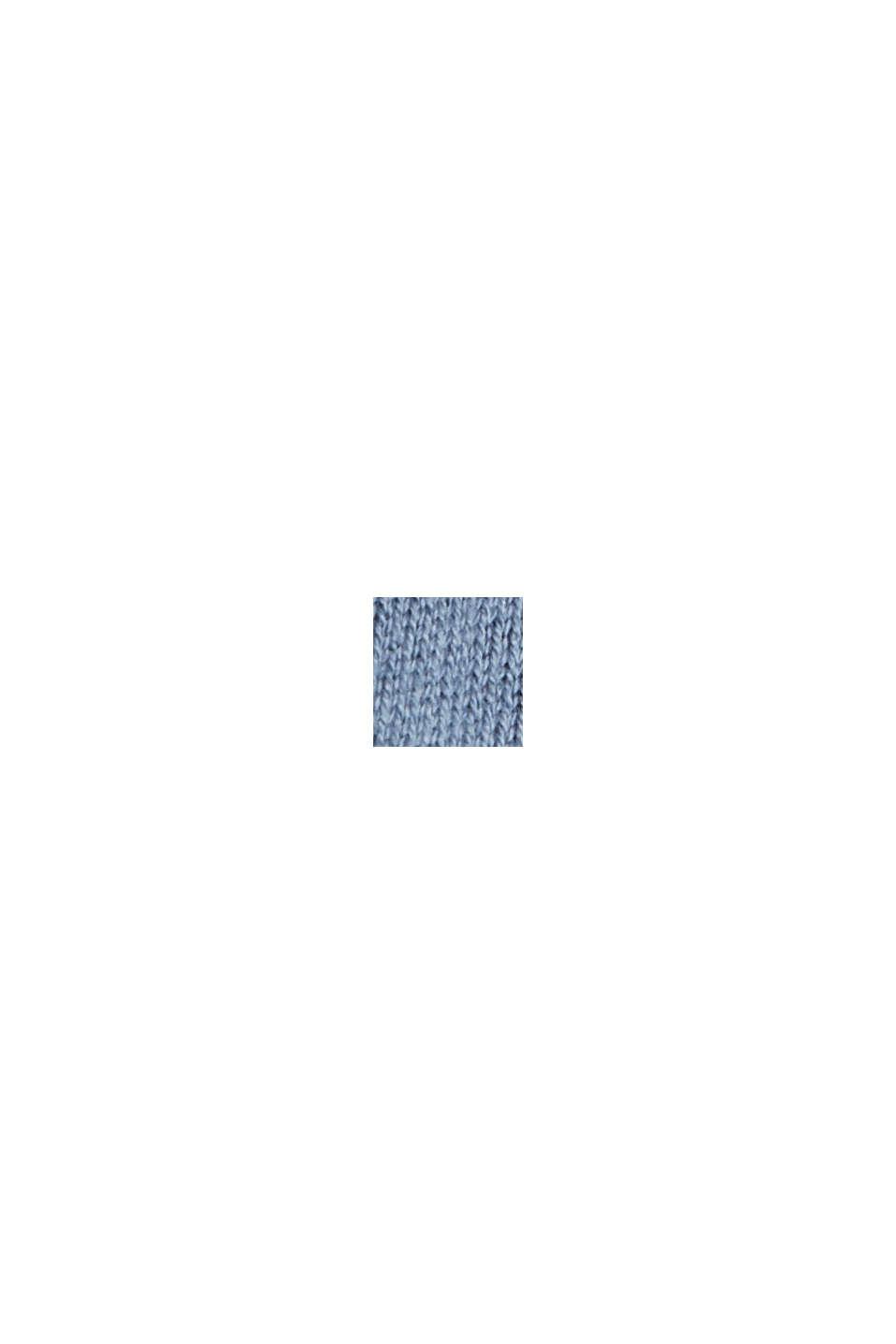 Cardigan in 100% cotone Pima, GREY BLUE, swatch