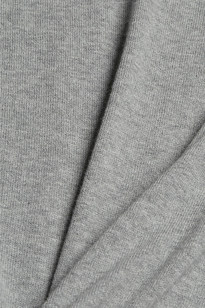 Polo-Pullover aus 100% Pima-Baumwolle, MEDIUM GREY, detail image number 4