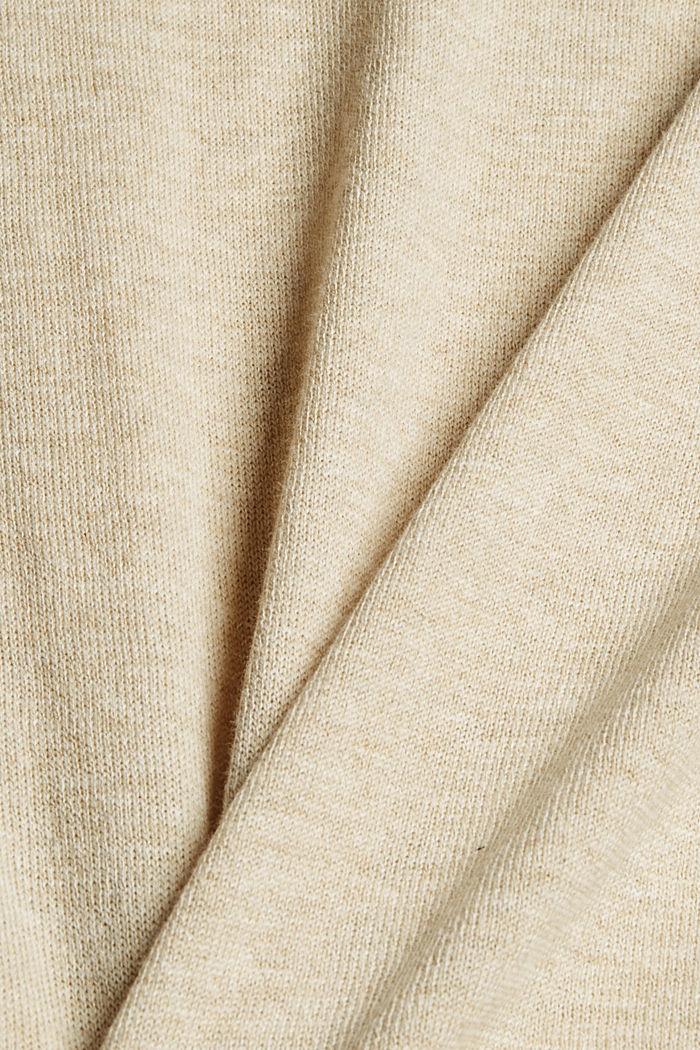 Jersey estilo polo en 100 % algodón Pima, SAND, detail image number 4