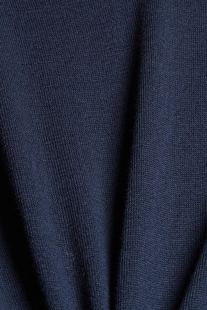 Jersey estilo polo en 100 % algodón Pima, NAVY, detail image number 4
