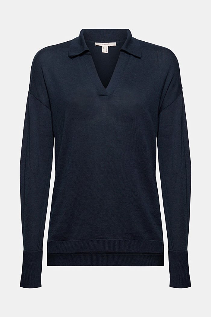 Polo-Pullover aus 100% Pima-Baumwolle