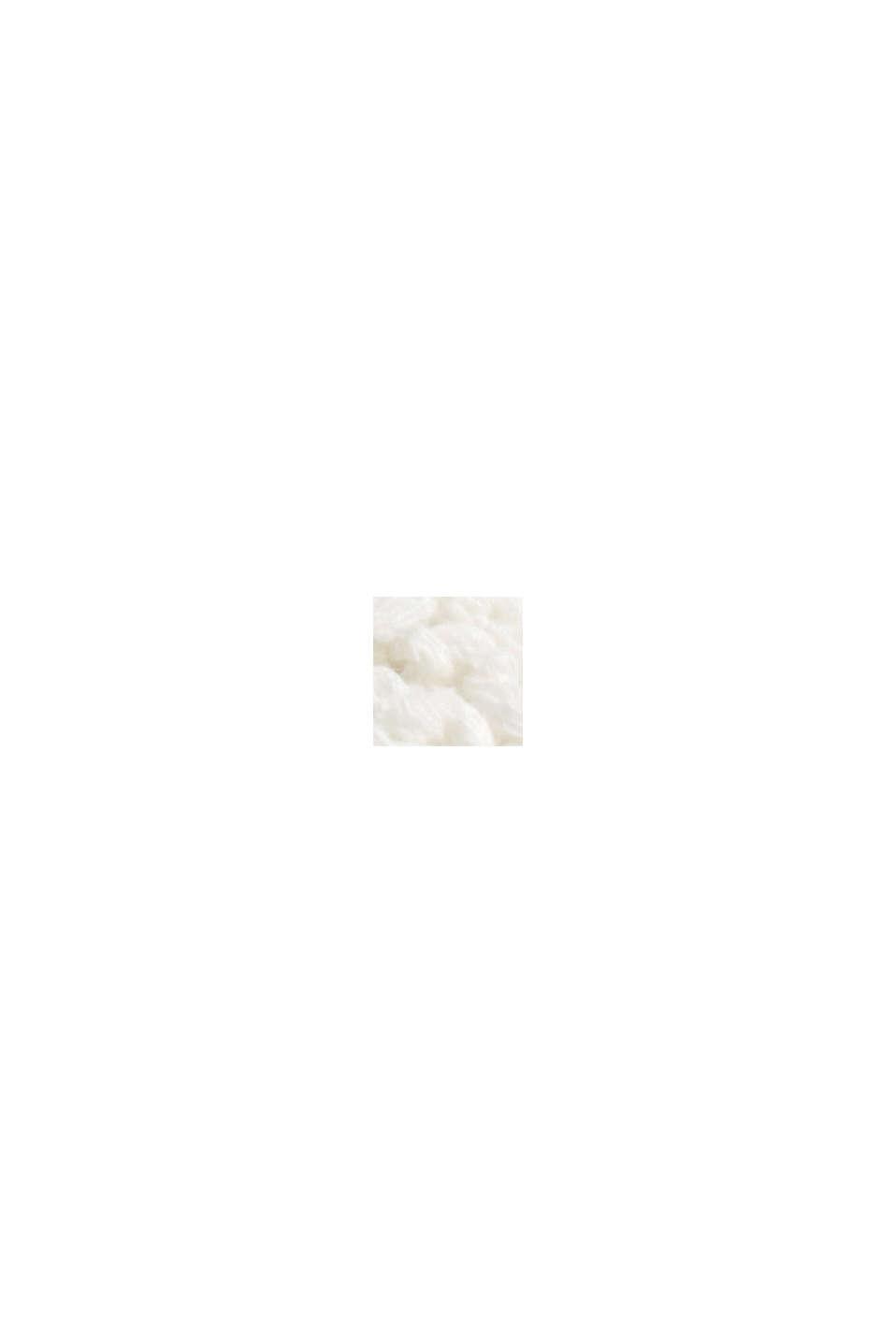 Zopfstrick-Pullover aus 100% Bio-Baumwolle, OFF WHITE, swatch