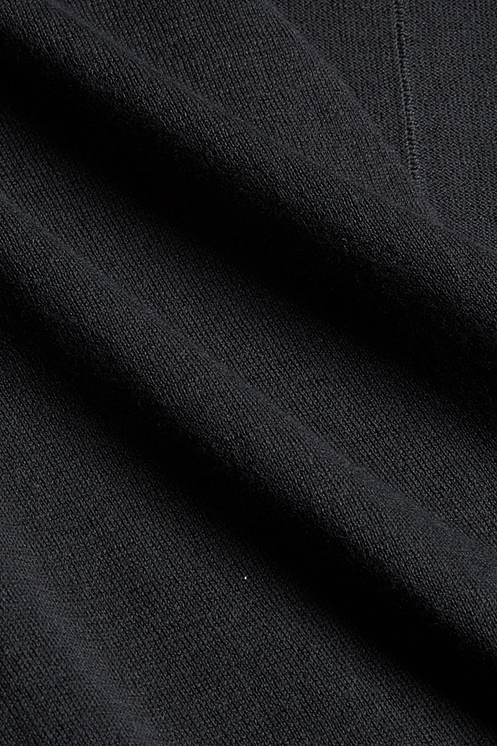 Offener Cardigan aus 100% Pima-Baumwolle, BLACK, detail image number 4