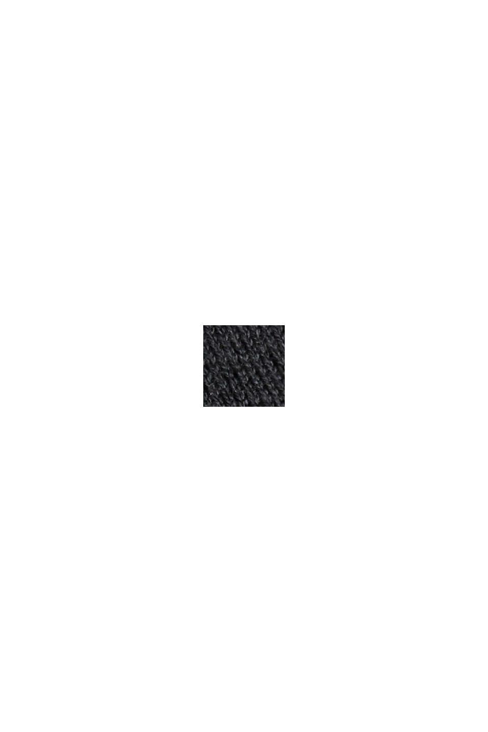 Cardigan ouvert, 100% coton Pima, BLACK, swatch