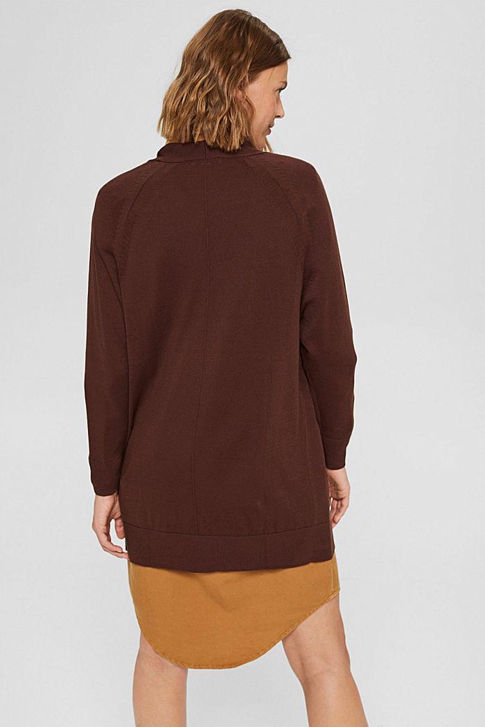 Offener Cardigan aus 100% Pima-Baumwolle, RUST BROWN, detail image number 3