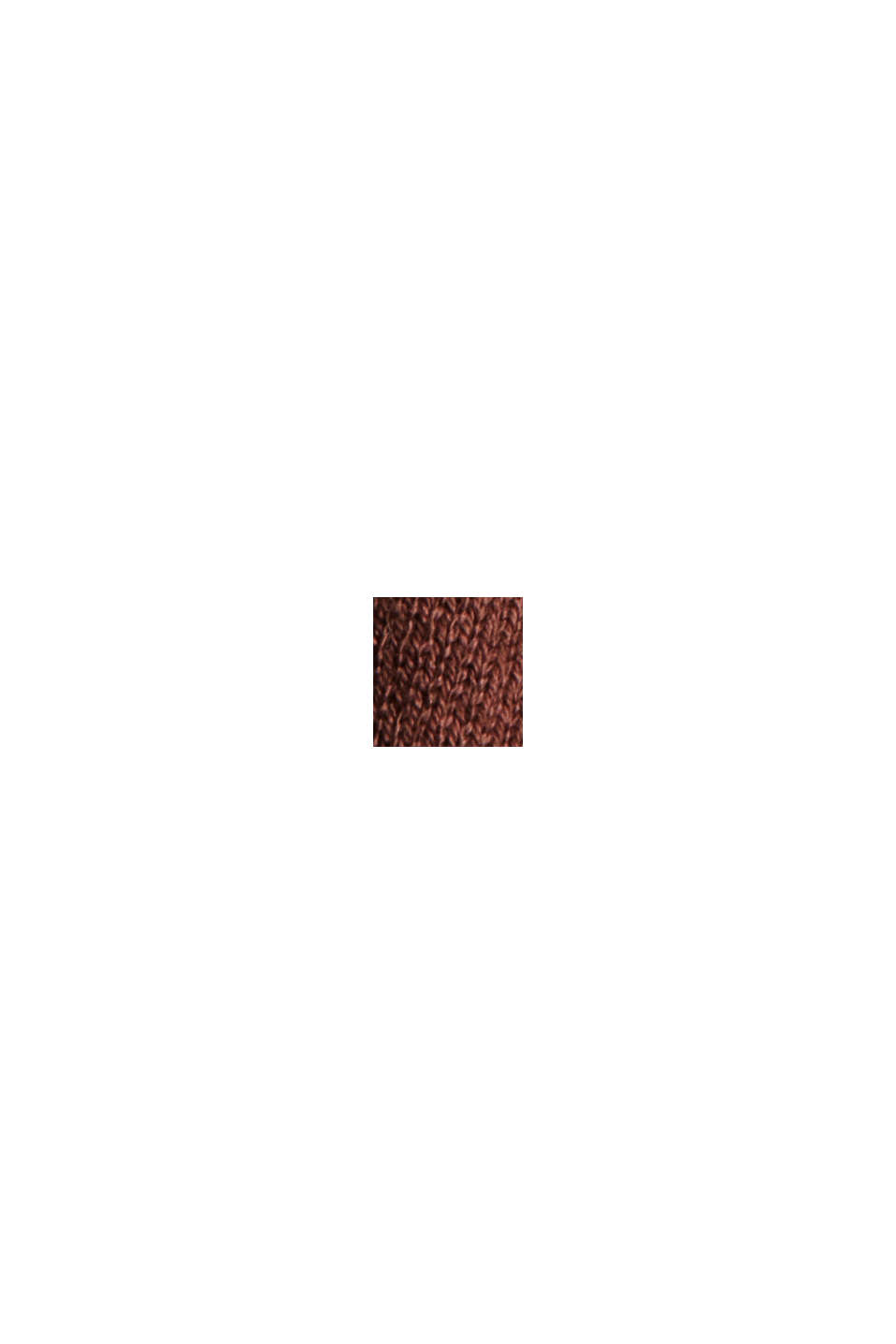 Cardigan ouvert, 100% coton Pima, RUST BROWN, swatch