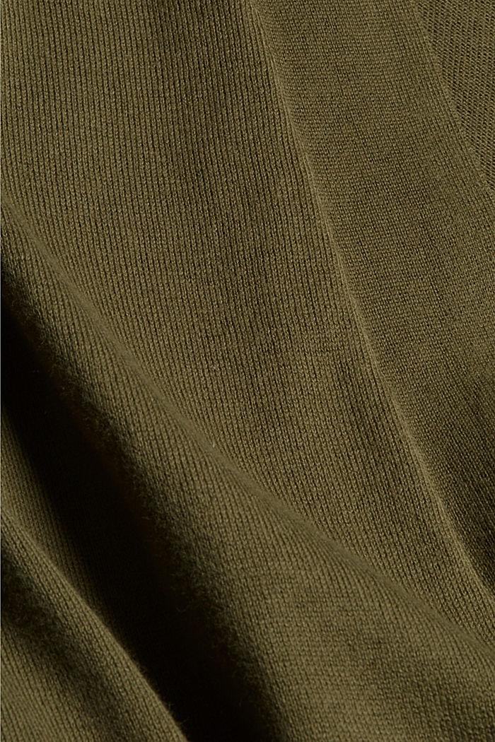 Offener Cardigan aus 100% Pima-Baumwolle, DARK KHAKI, detail image number 4