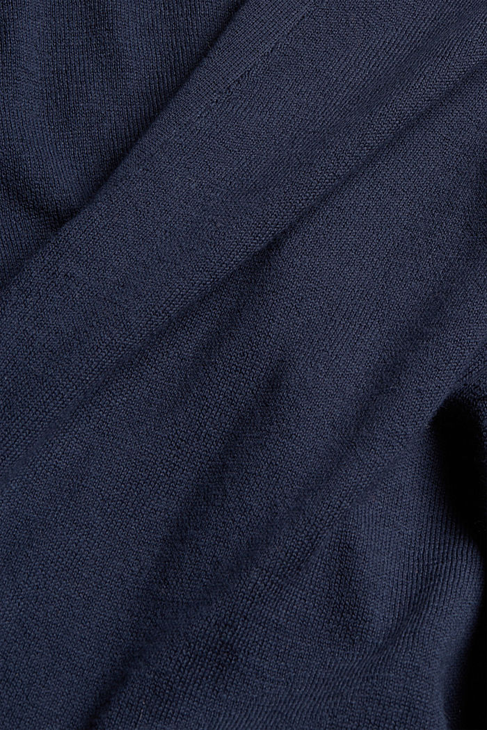 Open cardigan made of 100% pima cotton, NAVY, detail image number 4
