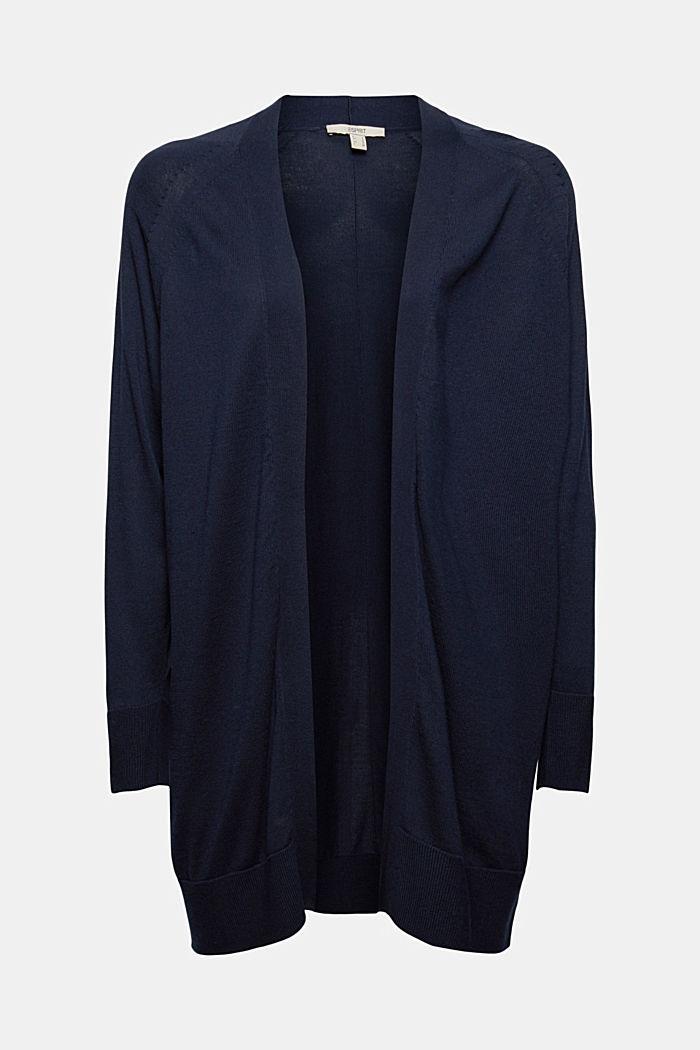 Cardigan ouvert, 100% coton Pima