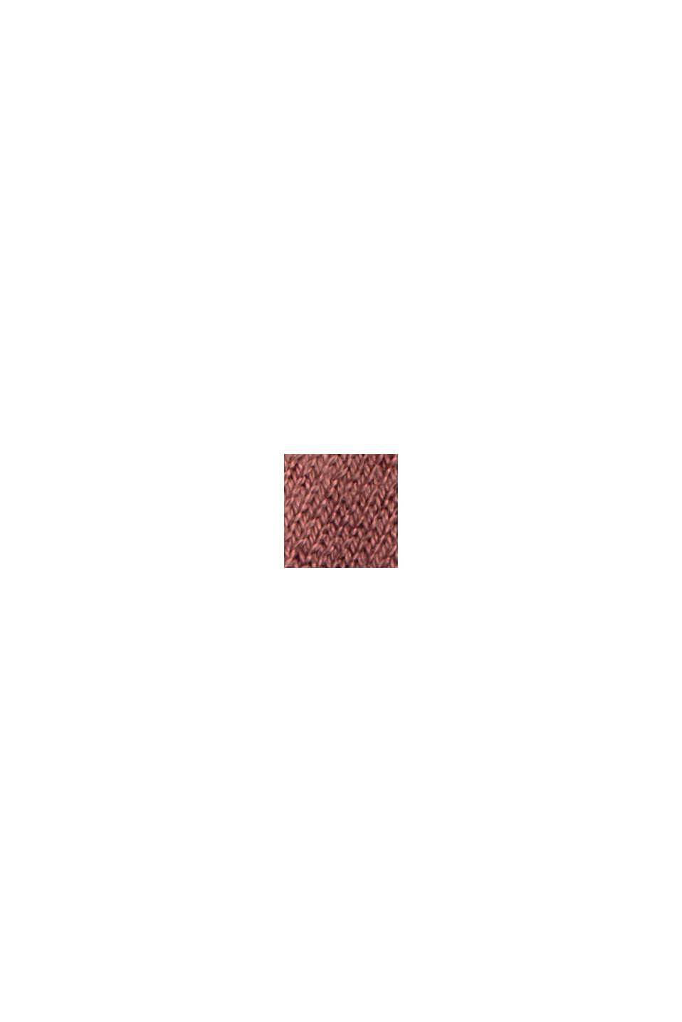 Offener Cardigan aus 100% Pima-Baumwolle, DARK OLD PINK, swatch