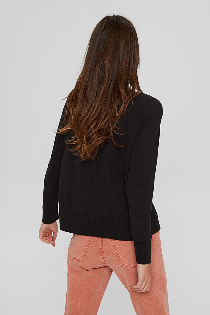 Pullover aus 100% Baumwolle, BLACK, detail image number 3
