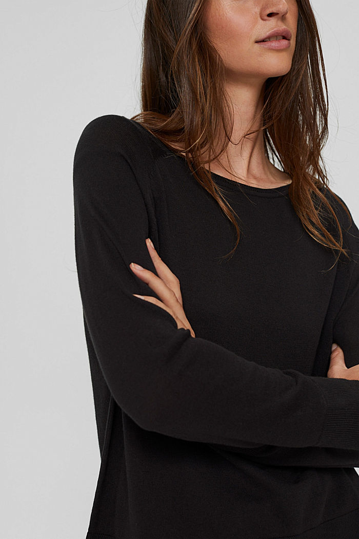 Pullover aus 100% Baumwolle, BLACK, detail image number 2