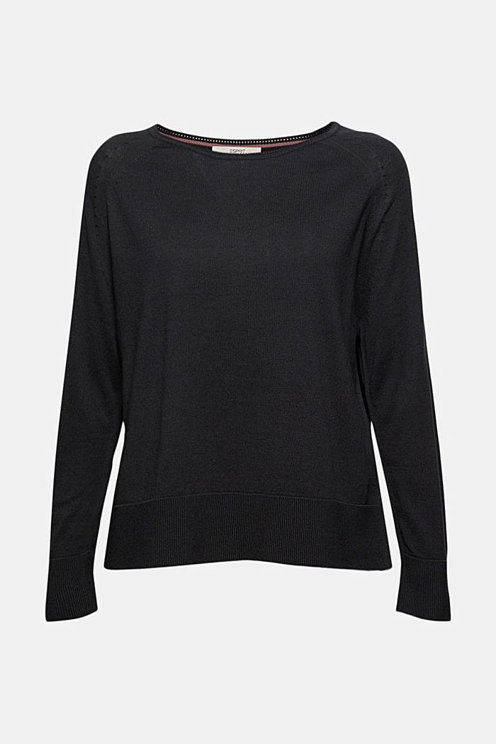 Pullover aus 100% Baumwolle, BLACK, detail image number 5