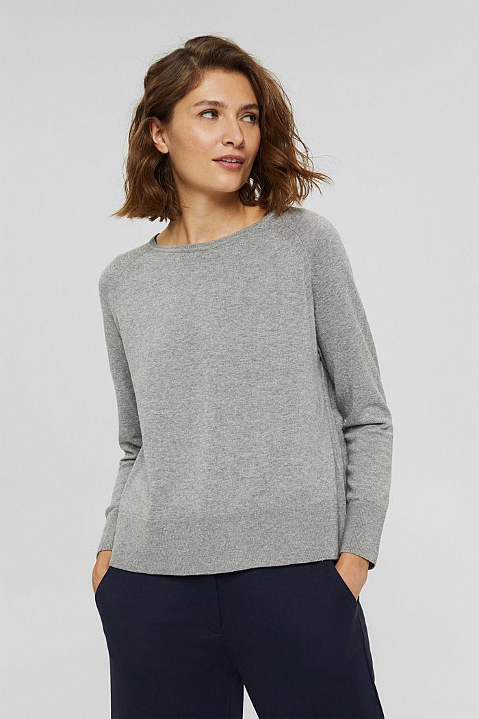 Pullover aus 100% Baumwolle, MEDIUM GREY, detail image number 0