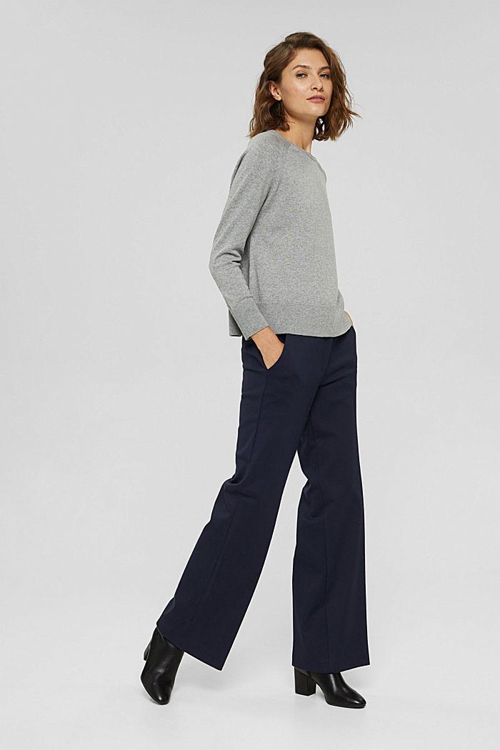 Pullover aus 100% Baumwolle, MEDIUM GREY, detail image number 1