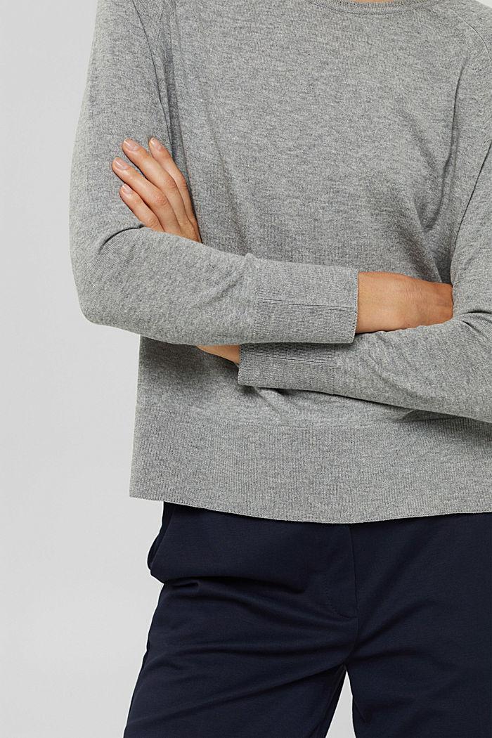 Pullover aus 100% Baumwolle, MEDIUM GREY, detail image number 2