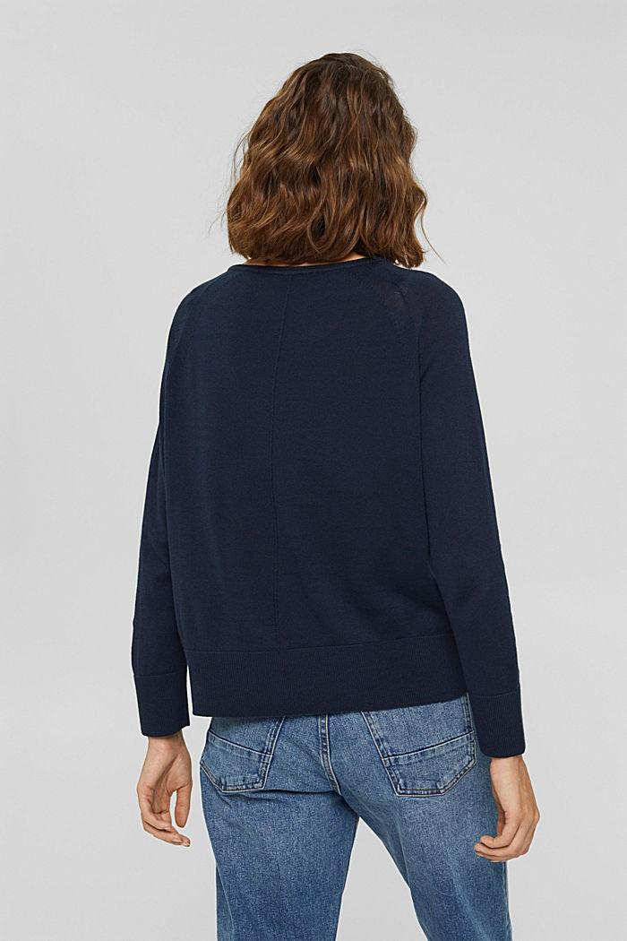 Pullover aus 100% Baumwolle, NAVY, detail image number 3
