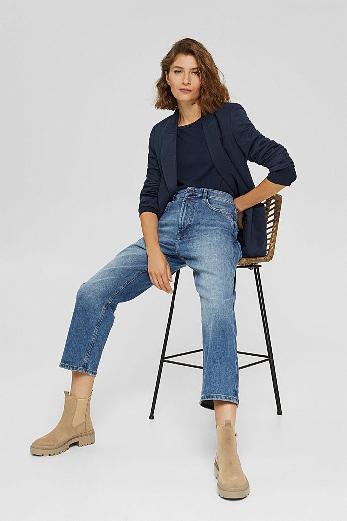 Pullover aus 100% Baumwolle, NAVY, detail image number 1