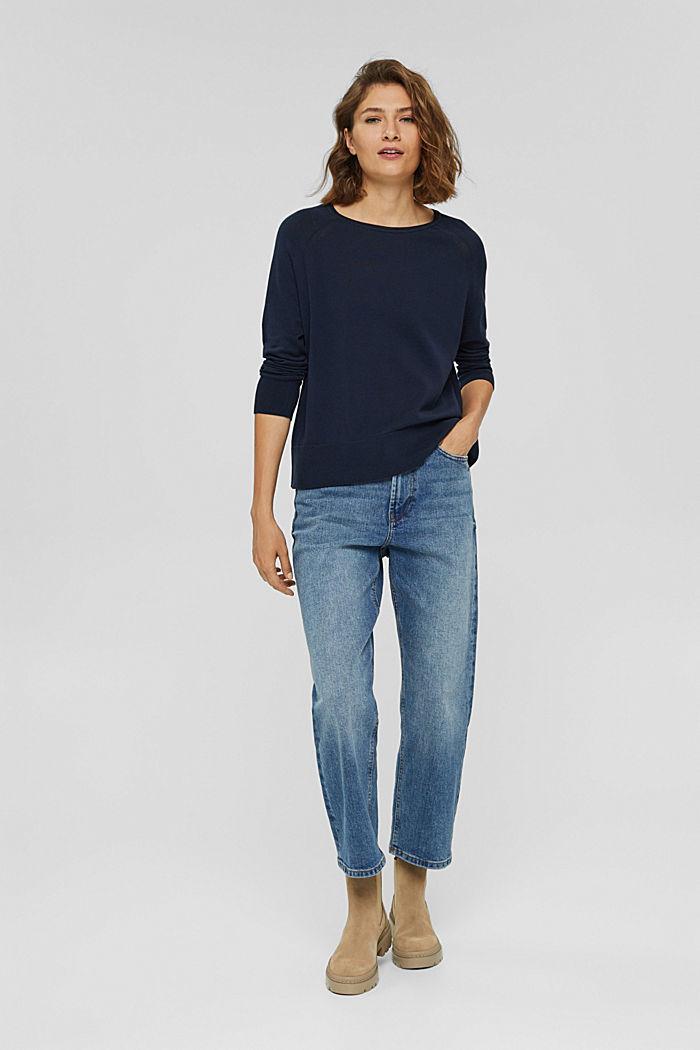 Pullover aus 100% Baumwolle, NAVY, detail image number 5