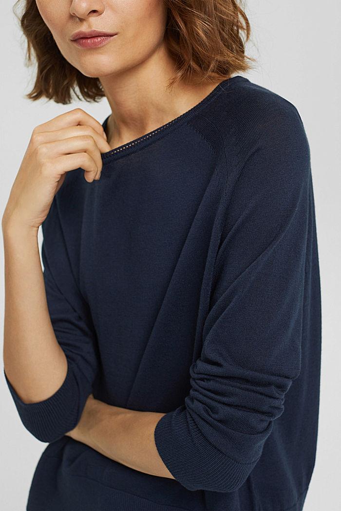 Pullover aus 100% Baumwolle, NAVY, detail image number 2