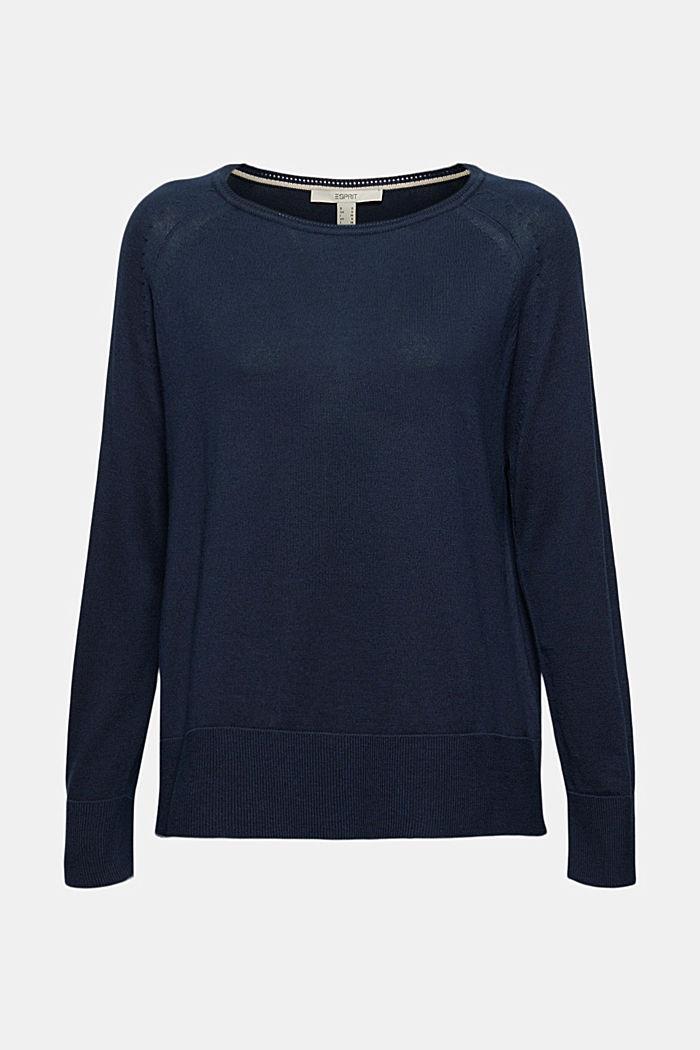 Pullover aus 100% Baumwolle, NAVY, detail image number 6