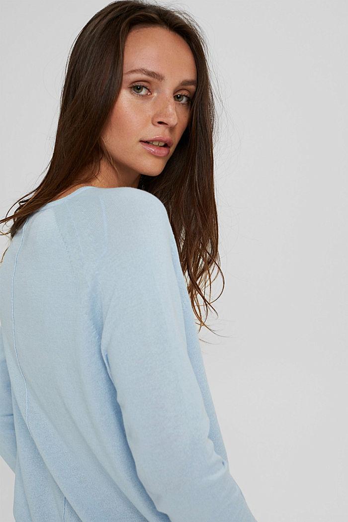 Pullover aus 100% Baumwolle, PASTEL BLUE, detail image number 5