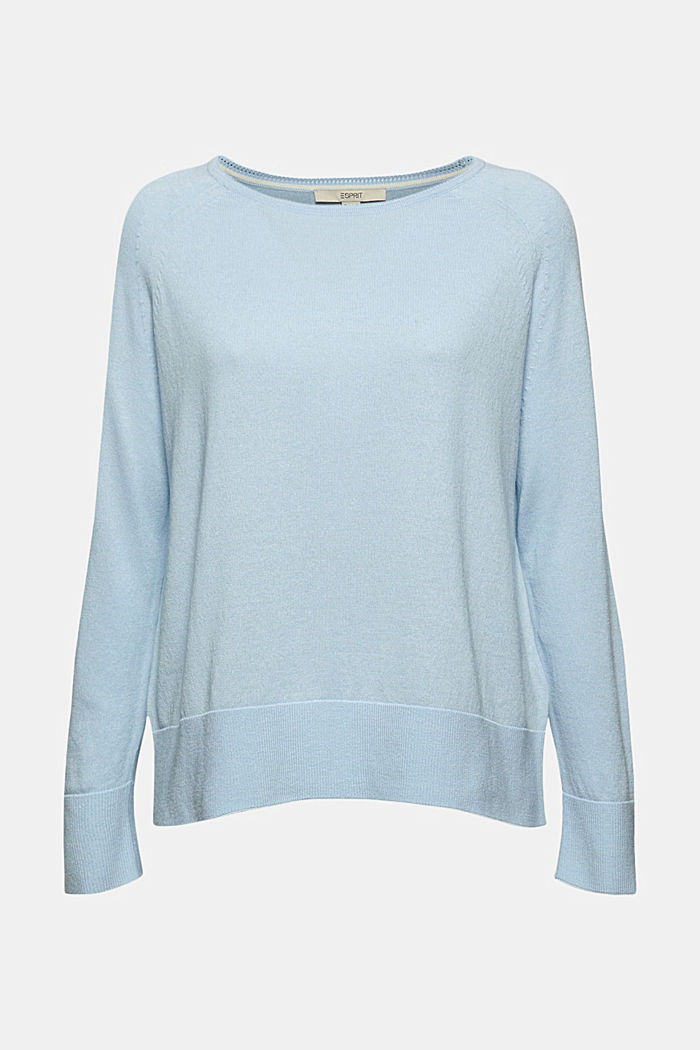 Pullover aus 100% Baumwolle, PASTEL BLUE, detail image number 6