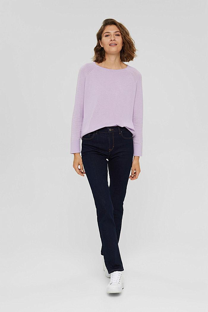 100% cotton jumper, LILAC, detail image number 1