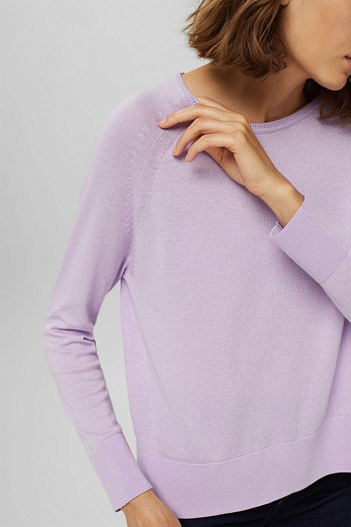 100% cotton jumper, LILAC, detail image number 2