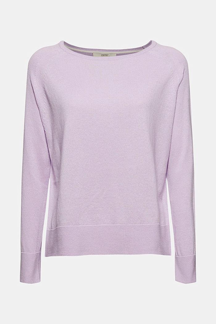 100% cotton jumper, LILAC, detail image number 6