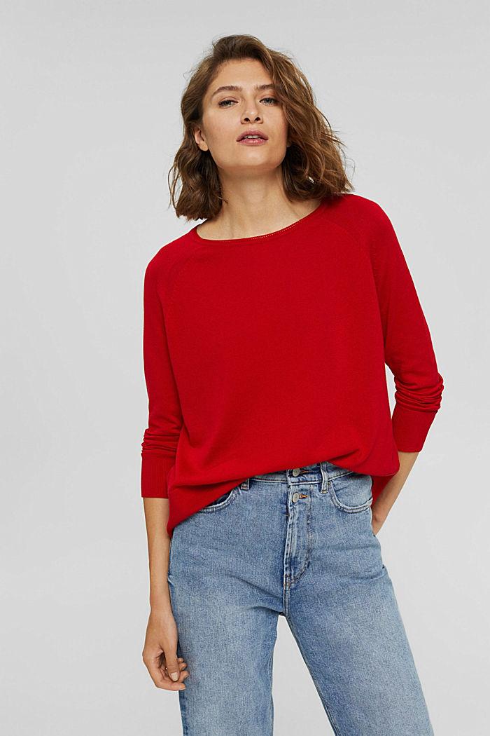 Jersey en 100% algodón, RED, detail image number 0