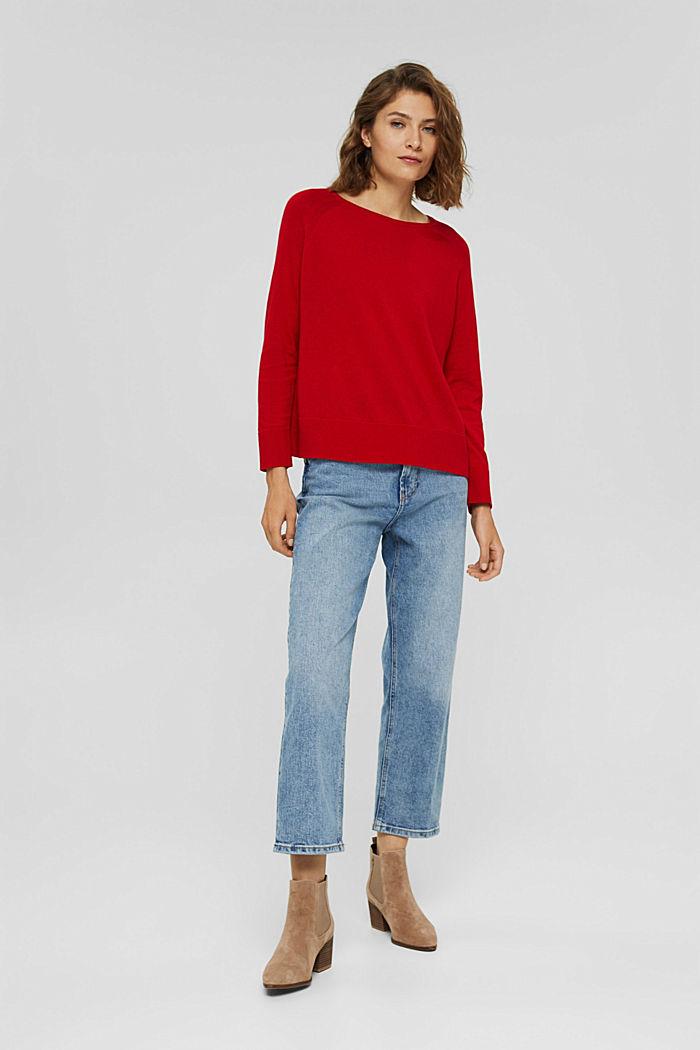 Jersey en 100% algodón, RED, detail image number 1