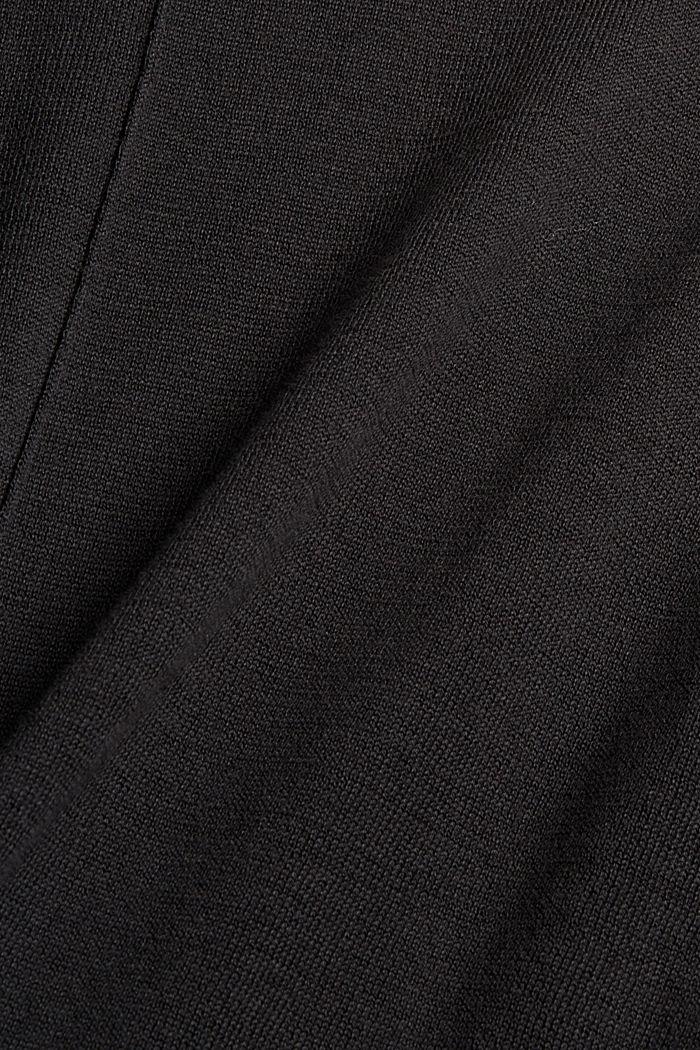 Pull-over à col droit, 100% coton Pima, BLACK, detail image number 4