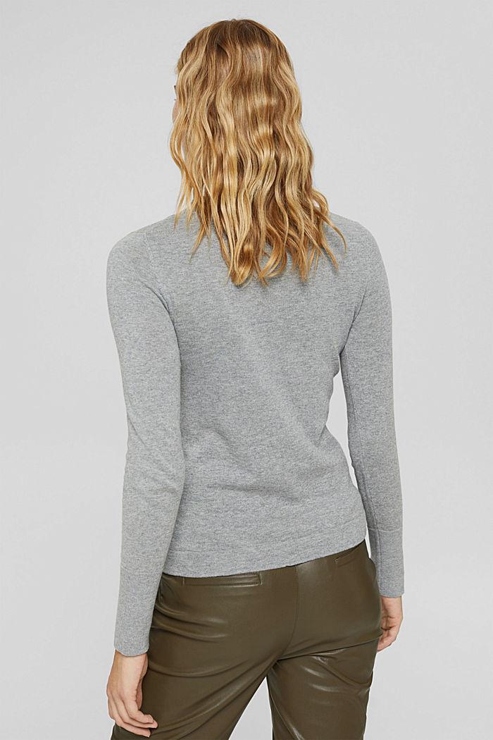 Pullover mit Stehkragen, 100% Pima Cotton, MEDIUM GREY, detail image number 3