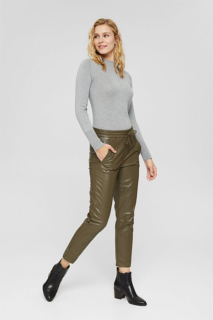 Pullover mit Stehkragen, 100% Pima Cotton, MEDIUM GREY, detail image number 1