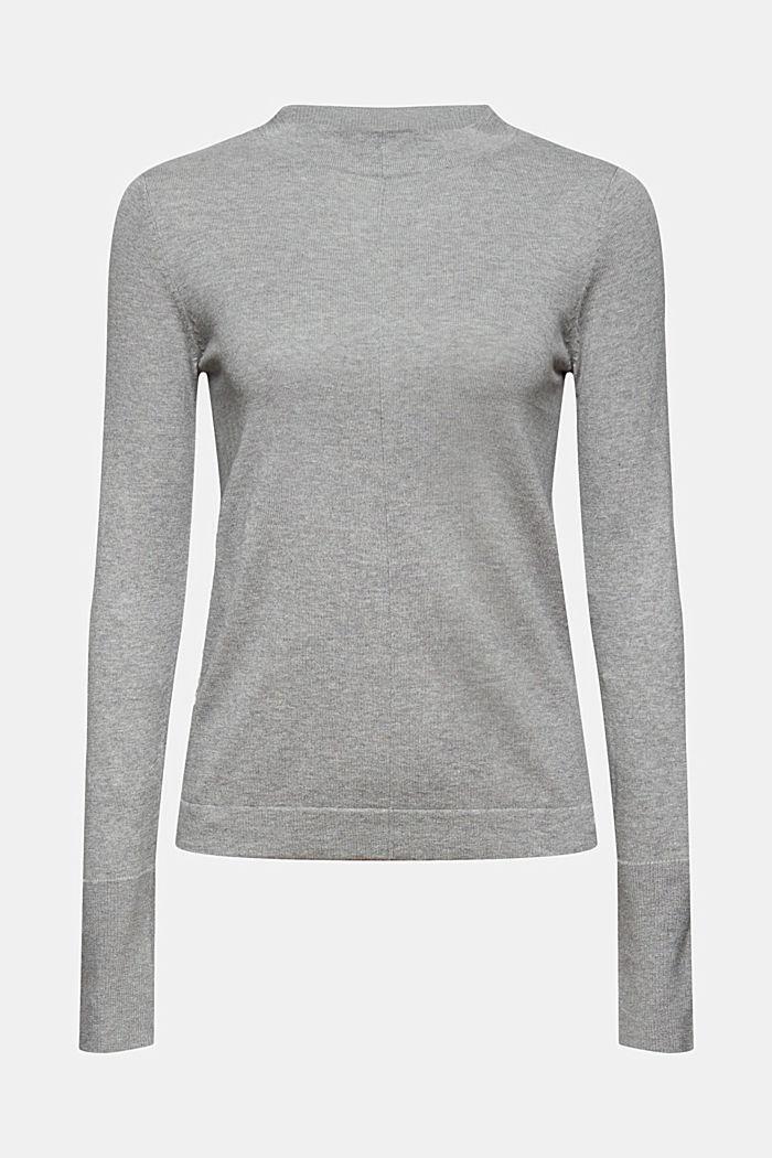 Pullover mit Stehkragen, 100% Pima Cotton, MEDIUM GREY, detail image number 6