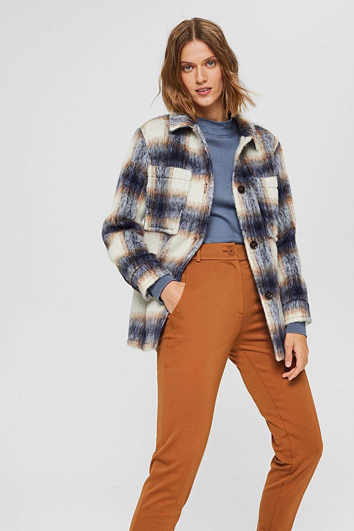 Pullover mit Stehkragen, 100% Pima Cotton, GREY BLUE, detail image number 5
