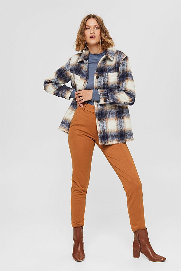 Pullover mit Stehkragen, 100% Pima Cotton, GREY BLUE, detail image number 1
