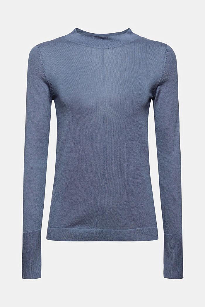 Pullover mit Stehkragen, 100% Pima Cotton