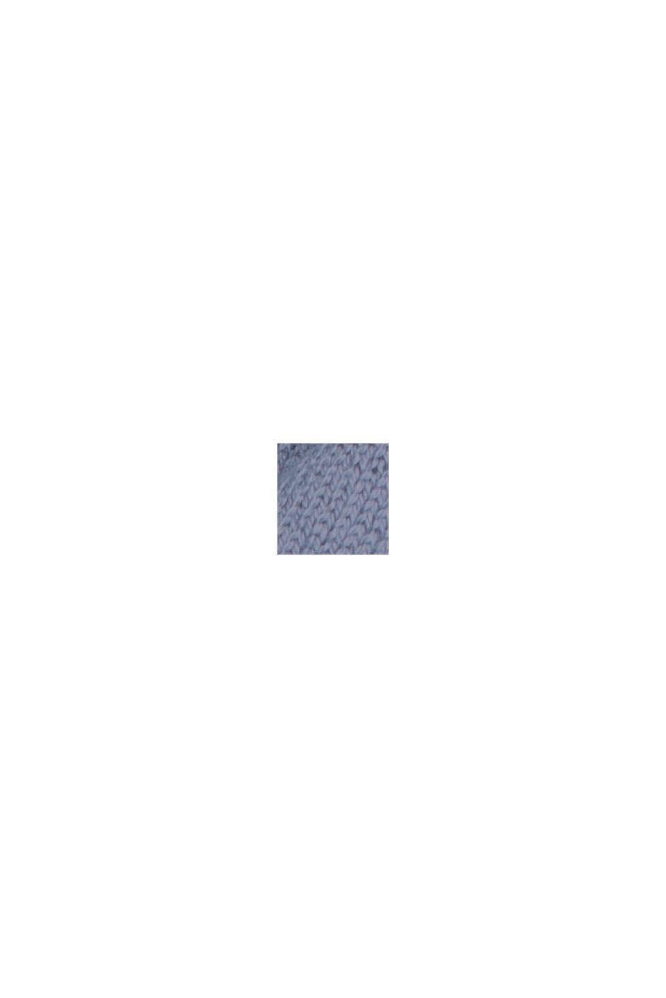 Pullover mit Stehkragen, 100% Pima Cotton, GREY BLUE, swatch