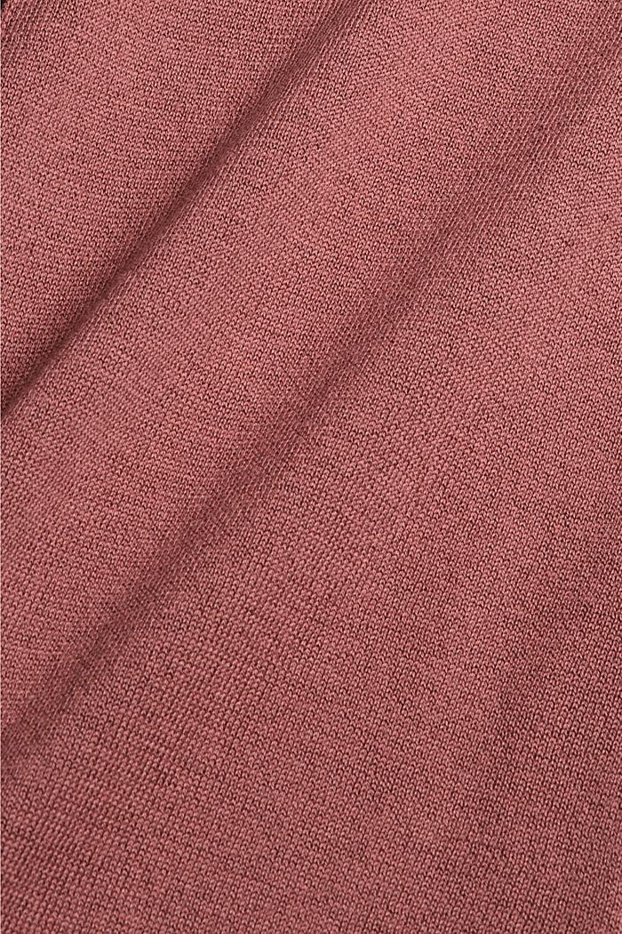 Pullover mit Stehkragen, 100% Pima Cotton, DARK OLD PINK, detail image number 4