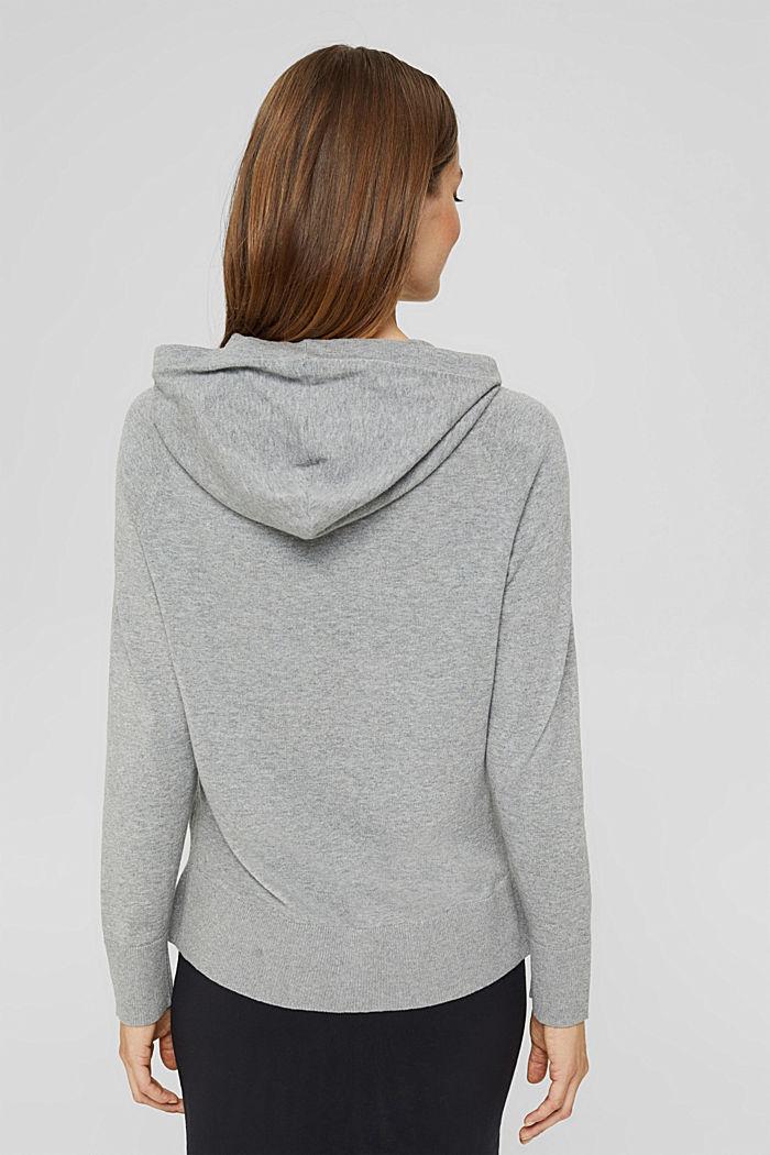 Pullover in Hoodie-Optik aus Pima-Baumwolle, MEDIUM GREY, detail image number 3