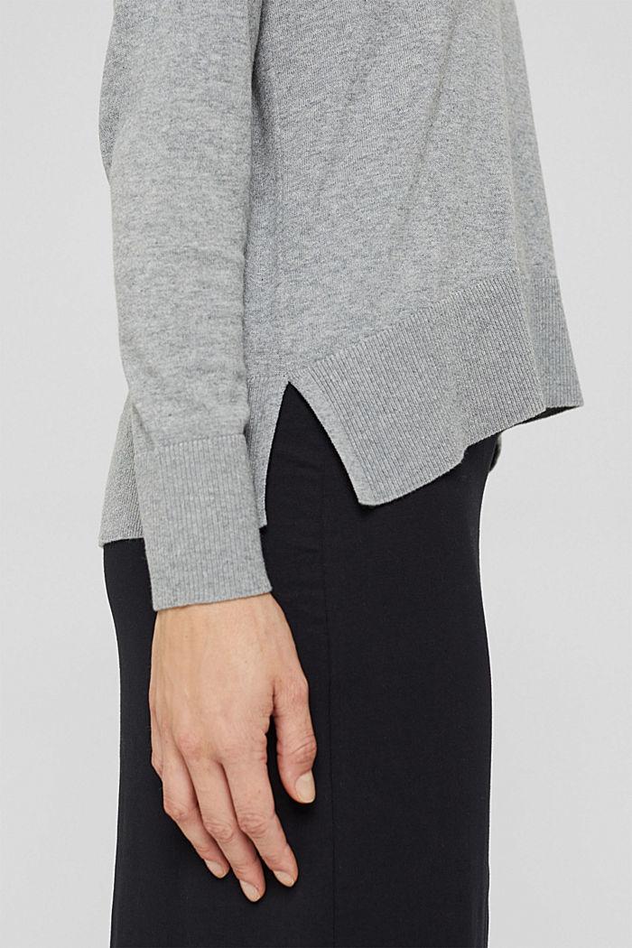 Pullover in Hoodie-Optik aus Pima-Baumwolle, MEDIUM GREY, detail image number 2