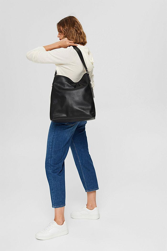 Pullover in Hoodie-Optik aus Pima-Baumwolle, OFF WHITE, detail image number 1