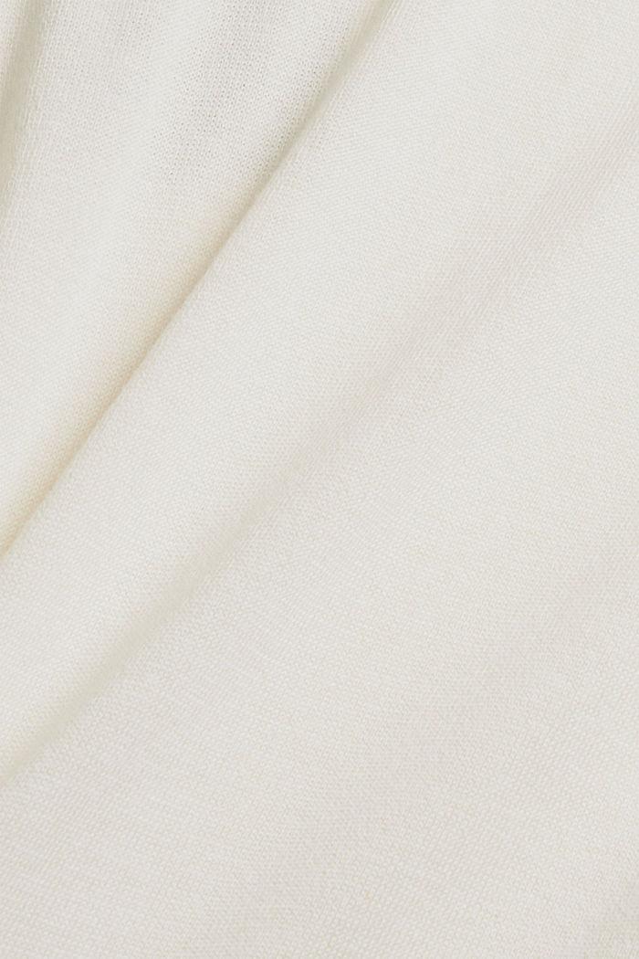 Pullover in Hoodie-Optik aus Pima-Baumwolle, OFF WHITE, detail image number 4
